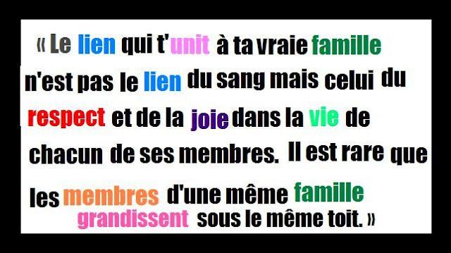 citation sur famille unie en image