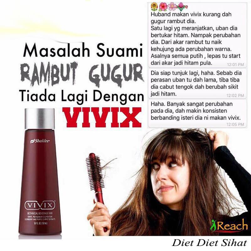 vivix  shaklee selesaikan masalah rambut  gugur
