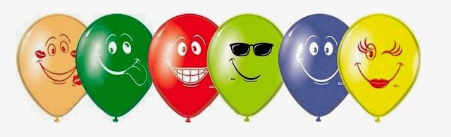 Воздушные шарики смайлы ассорти