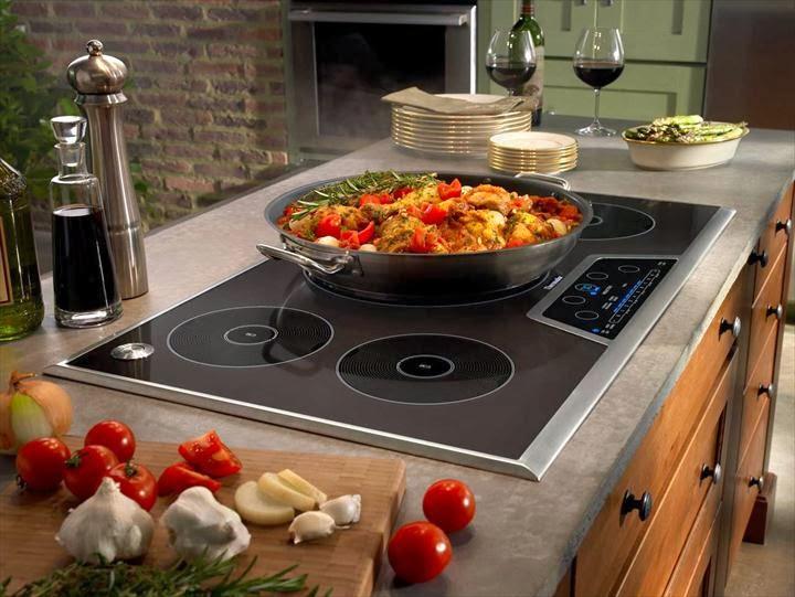 Estufa de inducción cocinas modernas