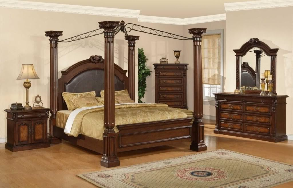 Antique furniture and canopy bed canopy bed drapes - Pictures of canopy beds ...