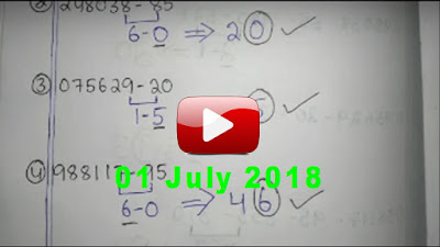Thai lottery down touch close digit win formula 01 July 2018