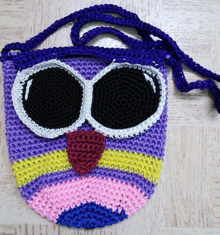 Sweet Nothings Crochet Owl Sling Bag