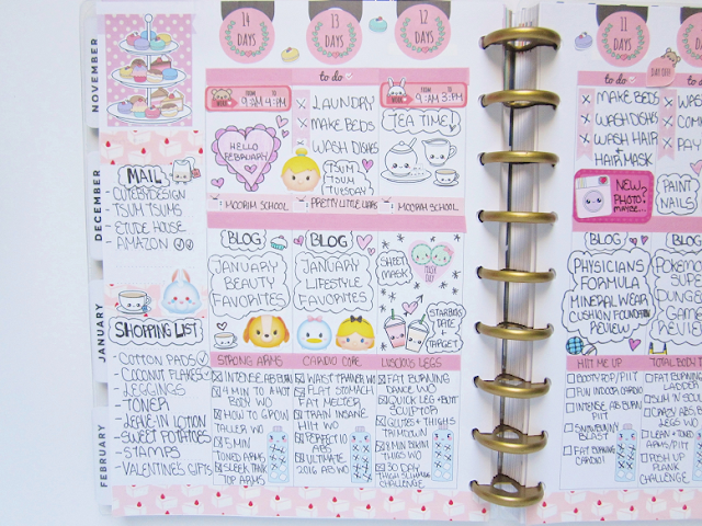 Tea Party Theme Planner Spread