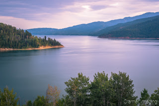 Cramer Imaging's quality landscape photograph of the Palisades reservoir lake at twilight in Idaho