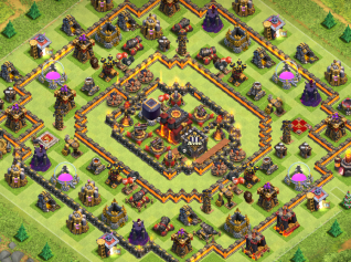 Gambar Base COC TH10 Anti Serangan Valkyrie