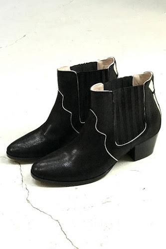 Boots Bullit noir shiny Patricia Blanchet