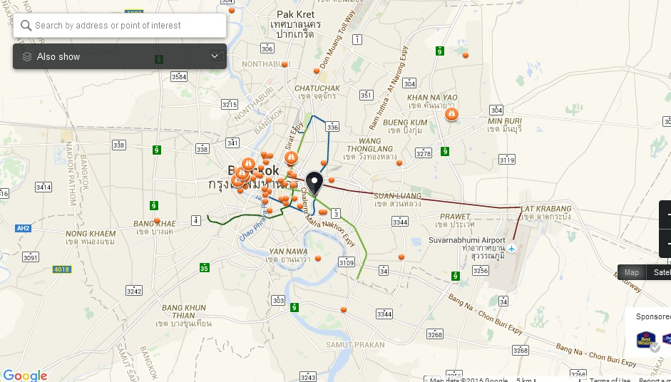 Terminal 21 Bangkok Map - Tourist Attractions in Bangkok