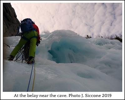 Parasol Gully, Dixville Notch, ice climbing, multi pitch, hero ice