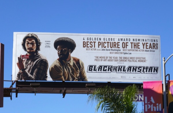 BlacKkKlansman Golden Globes billboard