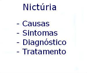 Nictúria causas sintomas diagnóstico tratamento prevenção riscos complicações
