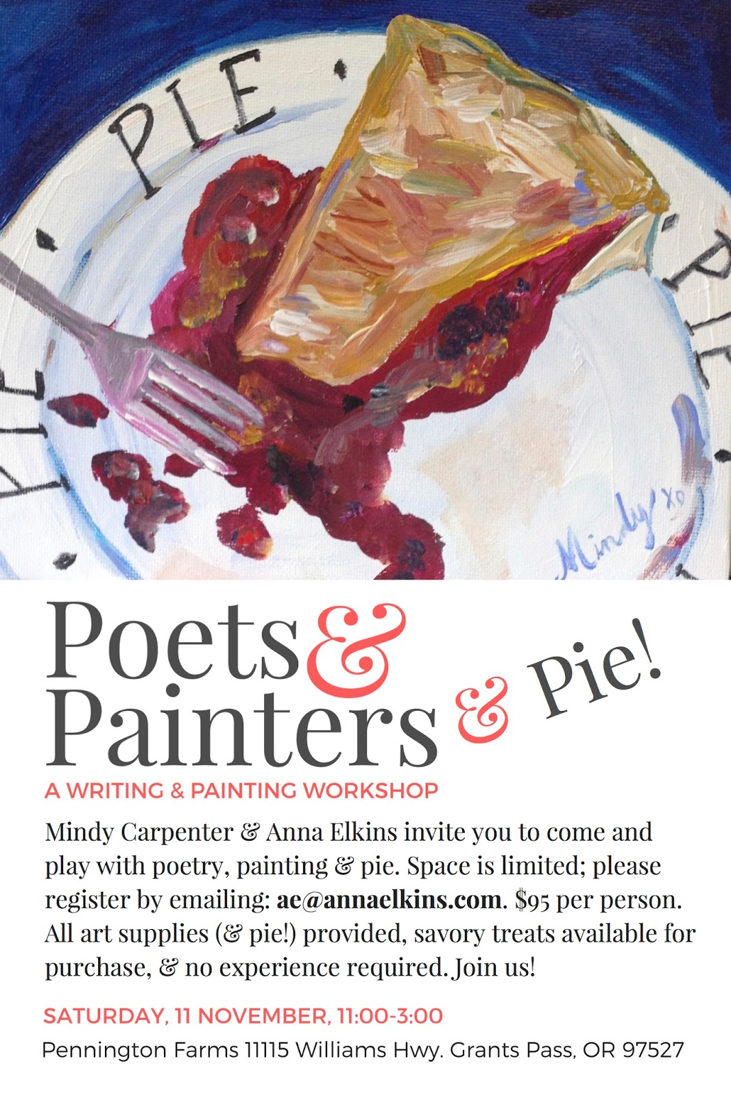 Yummy Alliteration: Poets & Painters & Pie at Pennington Farms!