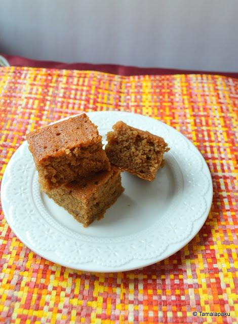 Eggless Honey Chocolate Cake