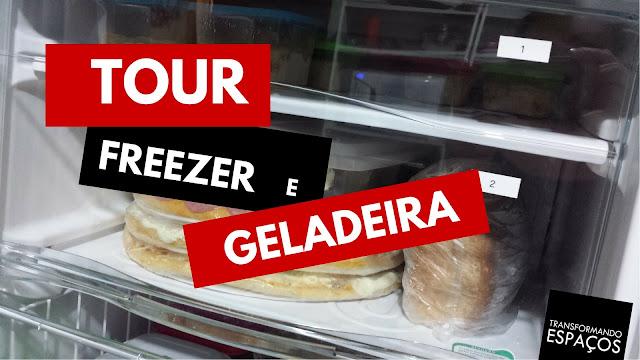 Tour pelo freezer e geladeira