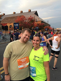 My husband and me at the Runner's World 10k run