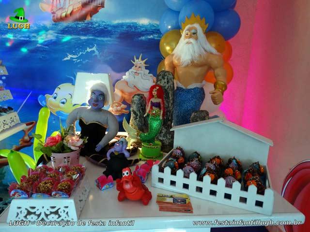 Decoração infantil tema Pequena Sereia - Ariel - Festa de aniversário