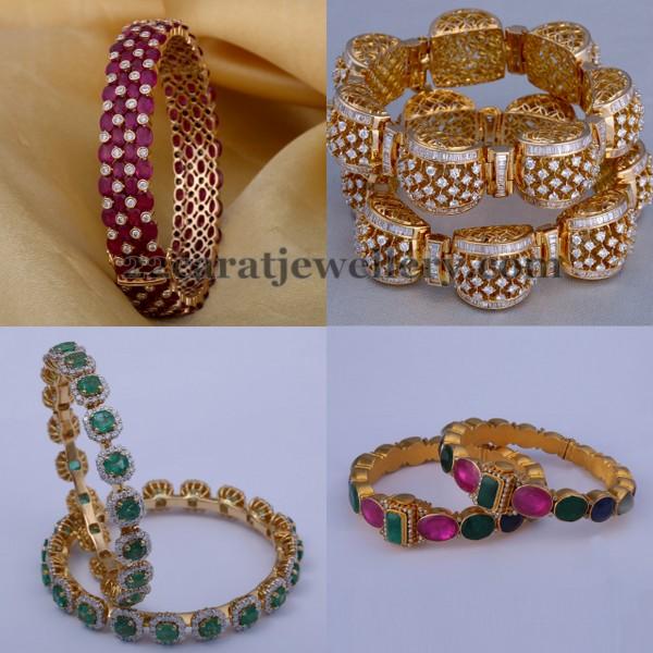 Diamond Bangles By Vasundhara Jewellers Jewellery Designs