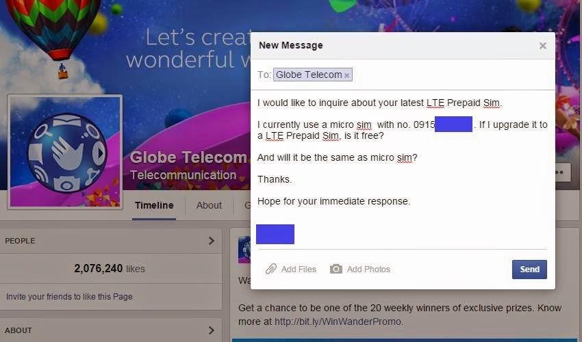 I will Upgrade my current Prepaid SIM to Globe's LTE SIM | Prepaid