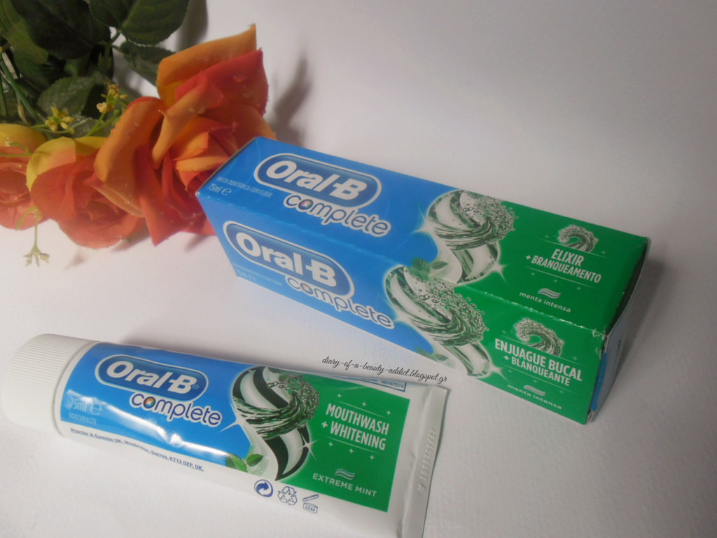Oral-B Complete Mouthwash +Whitening Toothpaste