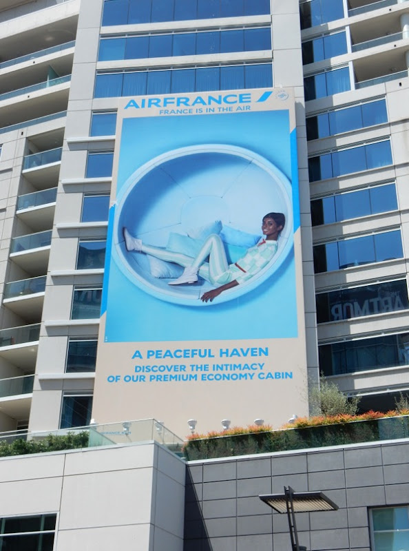 Air France Peaceful Haven premium economy billboard