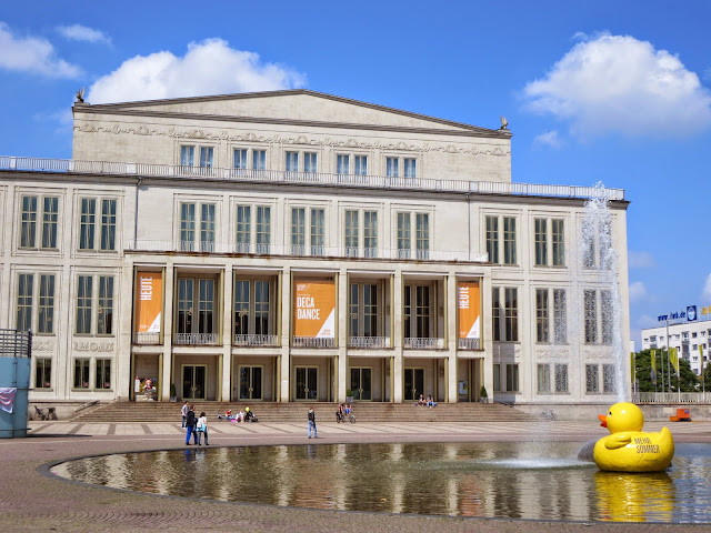 What to see in Leipzig: Leipzig Opera House with rubber duck