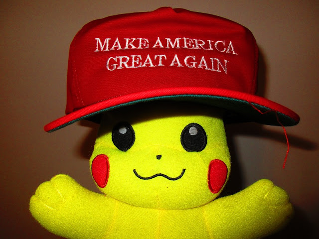 Pikachu Make America Great Again hat plushie Cleveland Ohio Republican National Convention