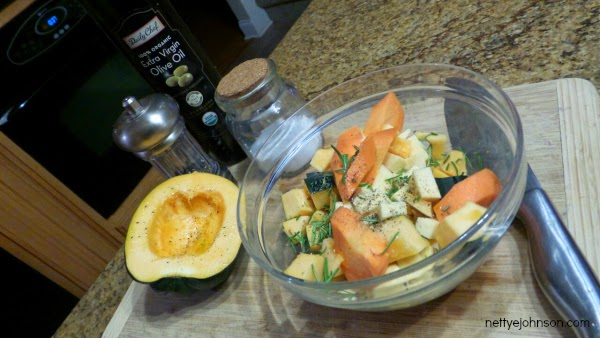Roasted vegetable mix