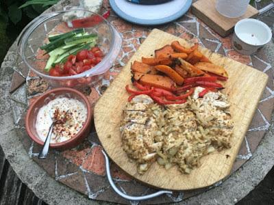 Lebanese Chicken Wrap Sandwich