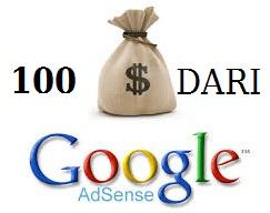 cara menghasilkan 100 dolar dari google adsense