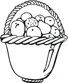 fruit baskets coloring pages - photo#29
