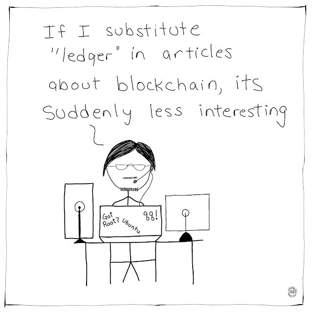 amusedbits, cartoon, humor, ledger, blockchain