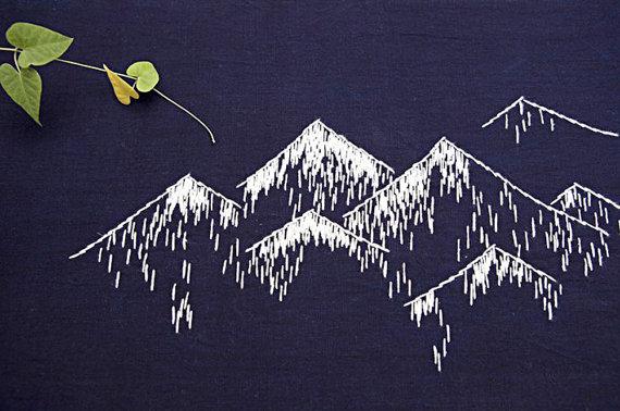 σασίκο, κέντημα, βουνά, μοντέρνο κέντημα, σουπλά, σουπλά με κέντημα, κέντημα ιδέες