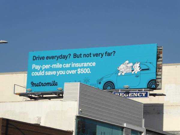 Metromile insurance pets billboard