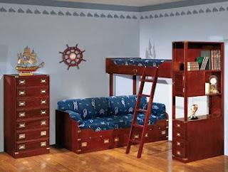 Dormitorio temático marinero