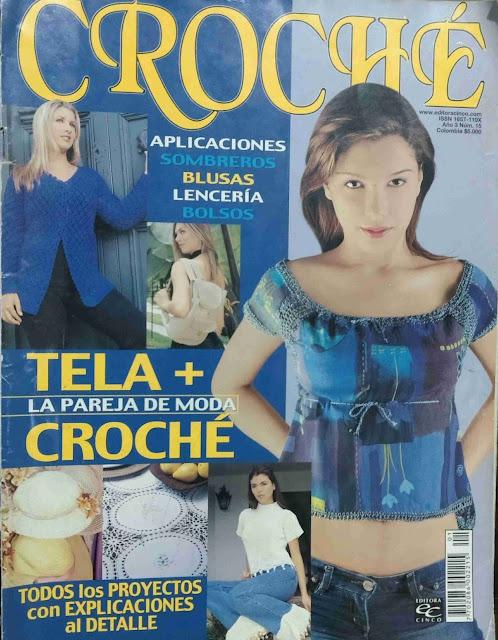 Revista #43: Croché: Tela + Croché - La Pareja de Moda