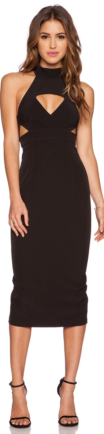 SHONA JOY THE MODERNISTS MIDI DRESS