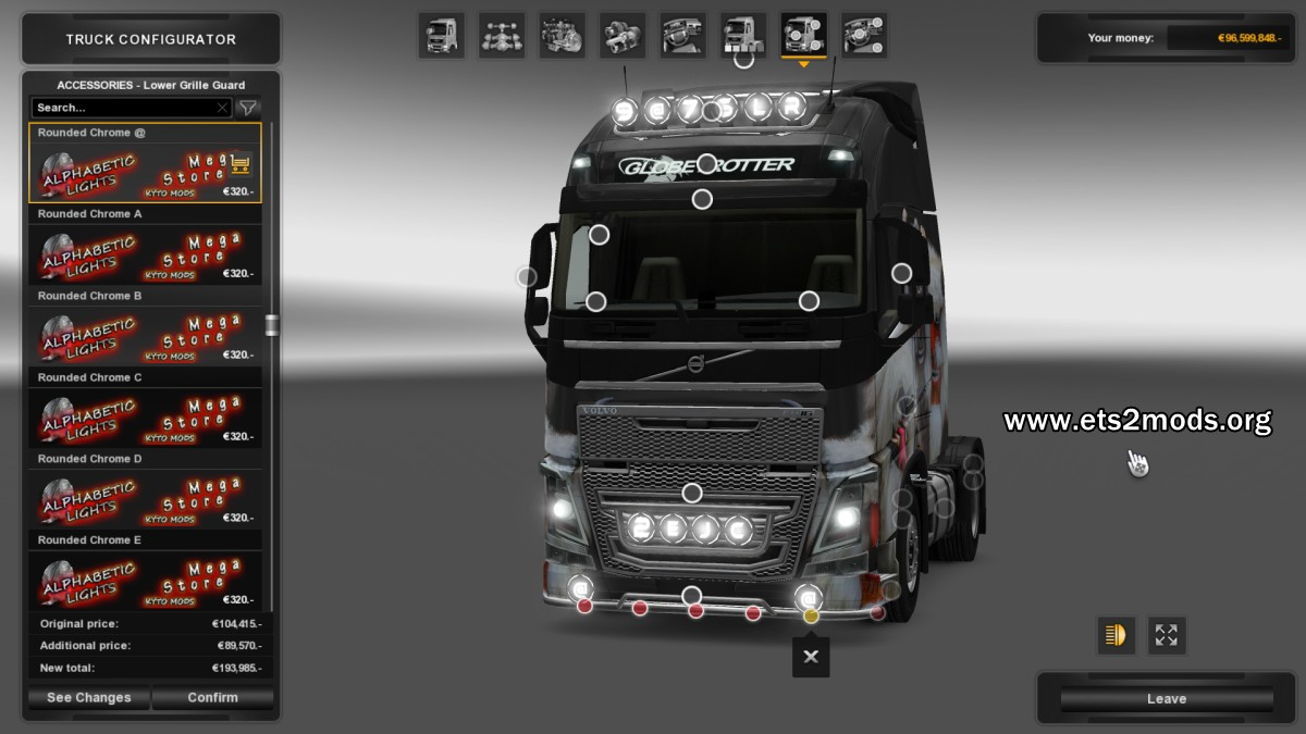 Numeric and Alphabetic Lights Mod - Volvo Fh16