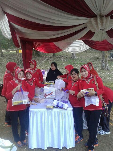 Acara Persit Penerbad di Kebun Raya Bogor