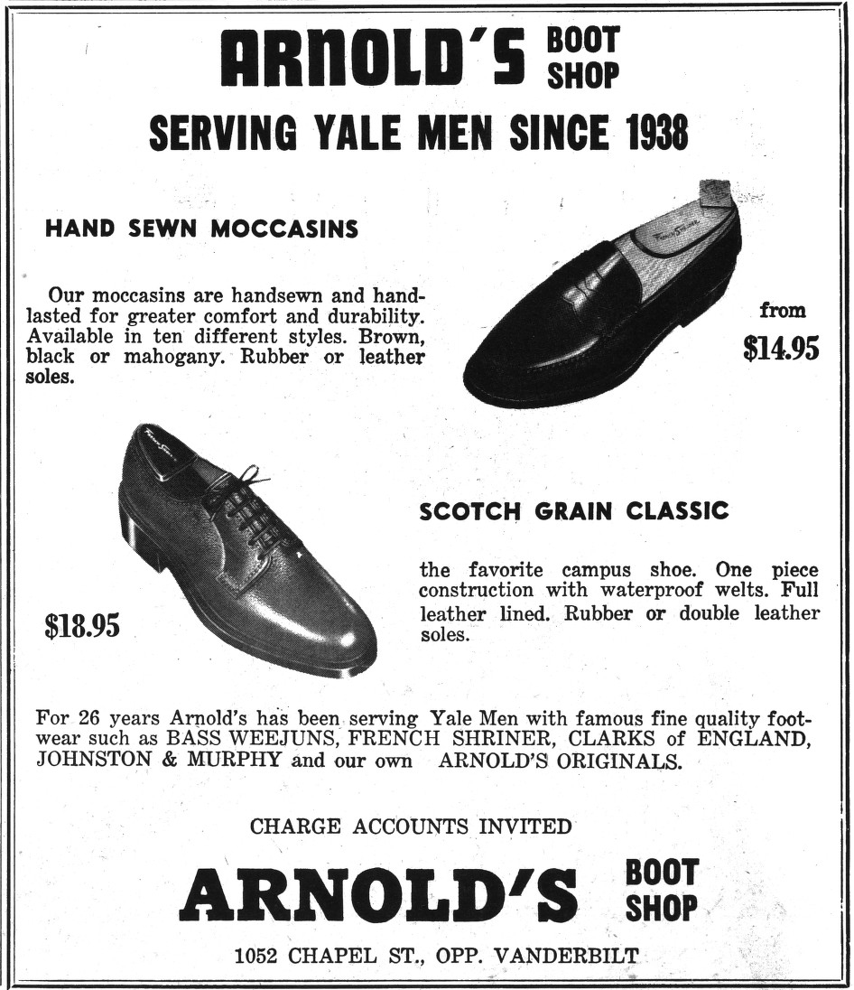 c7593356ece The Ivy League Look  Arnold s Boot Shop