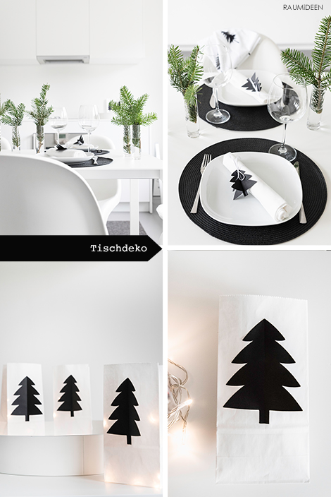 raumideen tischidee weihnachtliche tischdeko mit. Black Bedroom Furniture Sets. Home Design Ideas