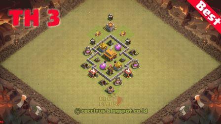 Susunan formasi clash of clans town hall 3 war base
