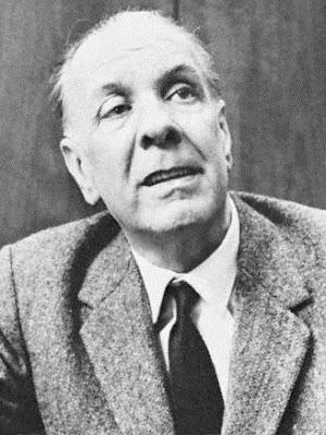 Foto de Jorge Luis Borges con canas
