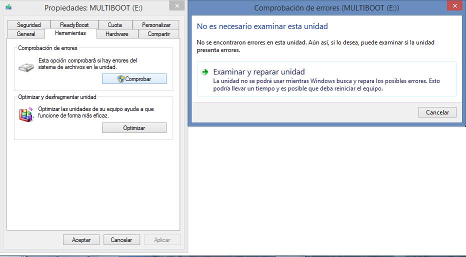 Cómo eliminar sectores defectuosos en un Pendrive con el explorador de Windows