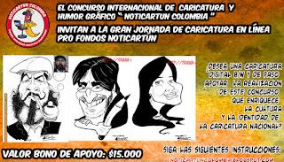 GRAN JORNADA CARICATURA EN LÍNEA PRo FONDOS CONCURSO NOTICARTÚN COLOMBIA