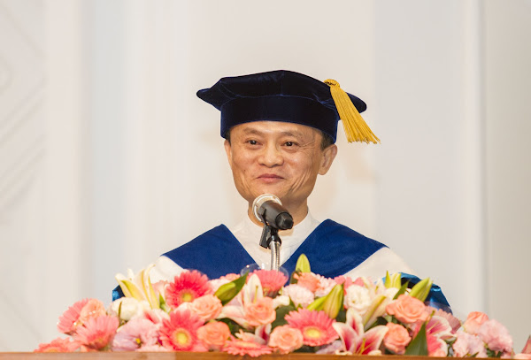 馬雲獲頒台師大名譽教育學博士