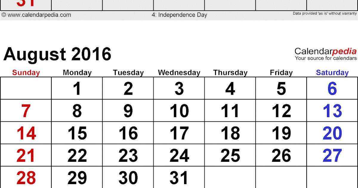 Calendar July August : Get printable calendar july august september months
