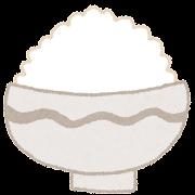 ご飯のイラスト「山盛りの白米どんぶり」