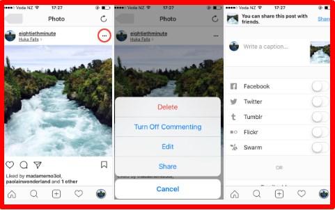 instagram link to facebook account