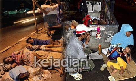 manusia gerobak 7 Modus Pengemis Gadungan di Jakarta