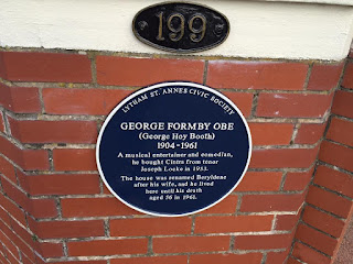 George Formby's House - blue plaque